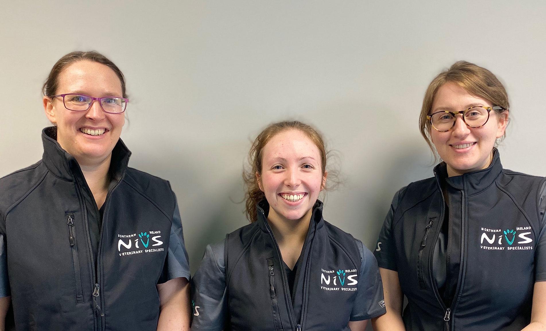 The veterinary nurses at NiVS